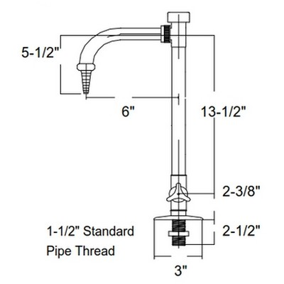 Polypro Deck Mount Lab Faucet w/ Integral Vacuum Breaker (Welded ...
